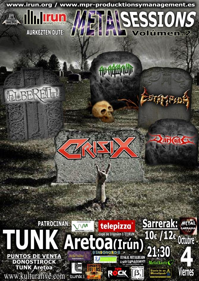 II METAL SESSIONS Fest en TUNK 4 octubre 2013 copy